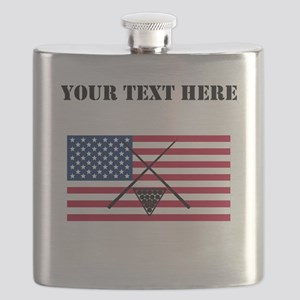 Billiards American Flag Flask