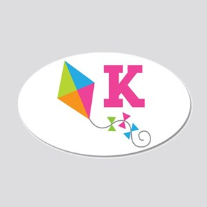 Cute Kite Letter K Monogram Wall Decal