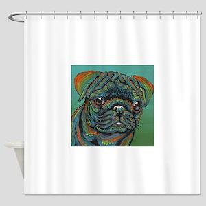 Rainbow Pug Shower Curtain