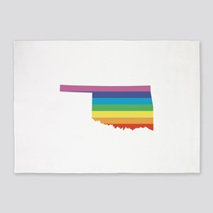 oklahoma rainbow 5'x7'Area Rug