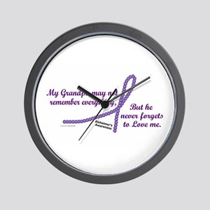Never Forgets To Love (Grandpa) Wall Clock