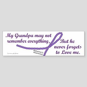Never Forgets To Love (Grandpa) Bumper Sticker