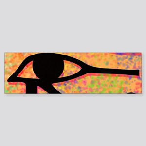 Eye of Horus With Colorful Backgrou Bumper Sticker