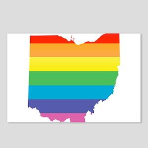 ohio rainbow Postcards (Package of 8)