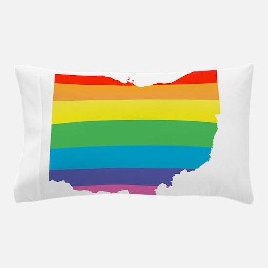 ohio rainbow Pillow Case