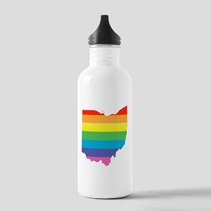ohio rainbow Water Bottle