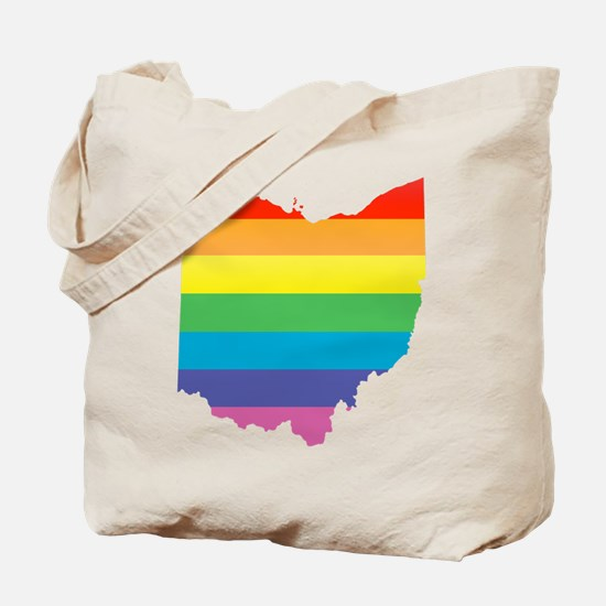 ohio rainbow Tote Bag