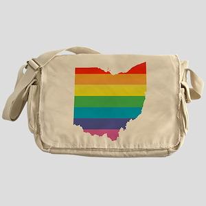 ohio rainbow Messenger Bag