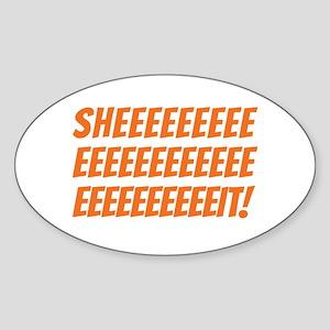 The Wire Sheeeeeit Sticker (Oval)