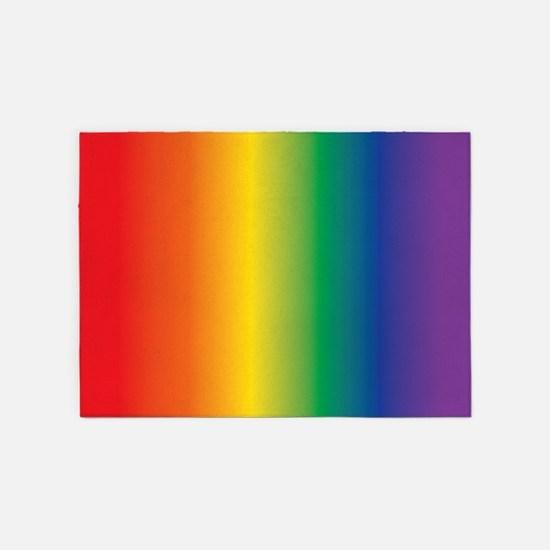 Rainbow lgbt 5'x7'Area Rug