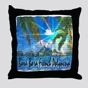 Bora Bora French Polynesia Throw Pillow