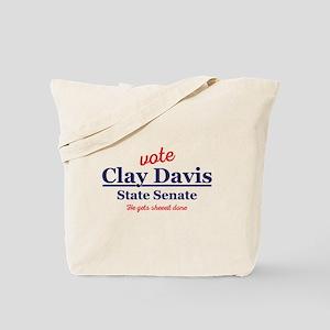 The Wire Vote Clay Davis Tote Bag