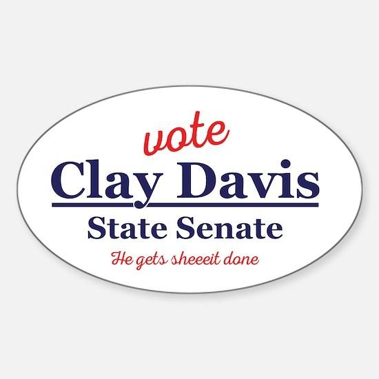 The Wire Vote Clay Davis Sticker (Oval)