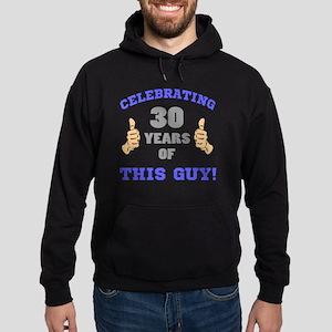 Celebrating 30th Birthday For Men Hoodie (dark)
