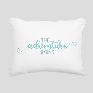 The Adventure Begins New Rectangular Canvas Pillow