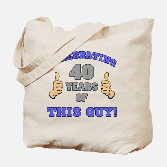 Celebrating 40th Birthday For Men Tote Bag