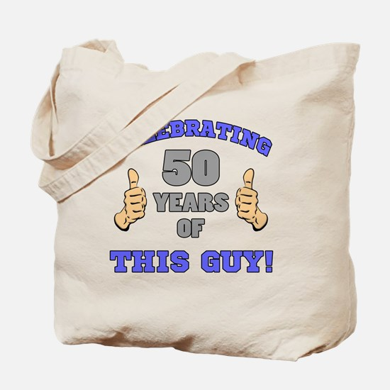 Celebrating 50th Birthday For Men Tote Bag