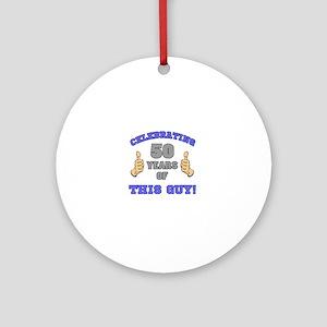 Celebrating 50th Birthday For Men Round Ornament