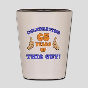 Celebrating 65th Birthday For Men Shot Glass