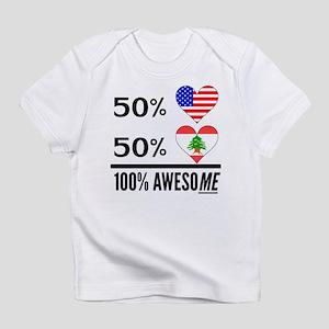 Half American Half Lebanese Infant T-Shirt