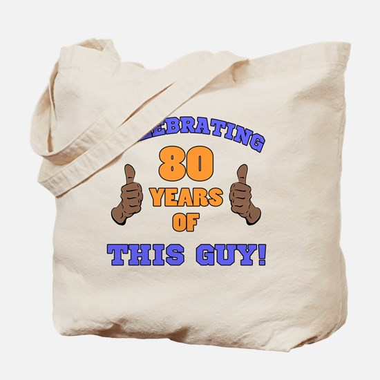 Celebrating 80th Birthday For Men Tote Bag
