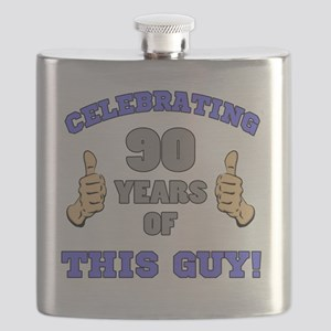 Celebrating 90th Birthday For Men Flask
