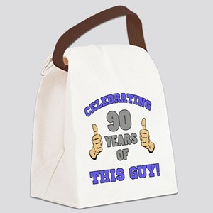 Celebrating 90th Birthday For Men Canvas Lunch Bag
