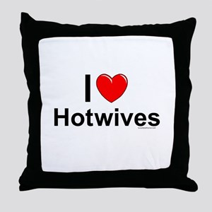 Hotwives Throw Pillow