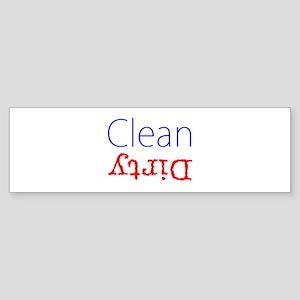 Clean Dirty Dishwasher Red Blue Bec Bumper Sticker