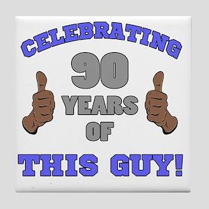 Celebrating 90th Birthday For Men Tile Coaster