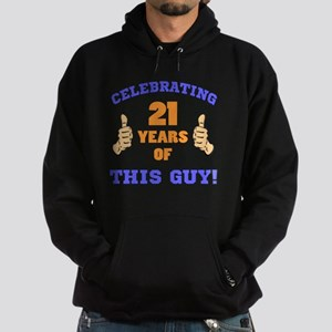 Celebrating 21st Birthday For Men Hoodie (dark)