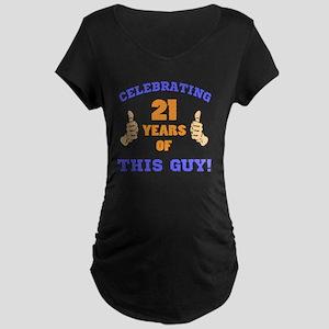Celebrating 21st Birthday F Maternity Dark T-Shirt