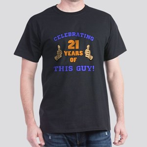 Celebrating 21st Birthday For Men Dark T-Shirt
