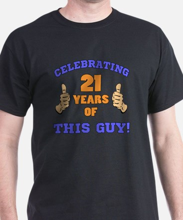 Celebrating 21st Birthday For Men T-Shirt