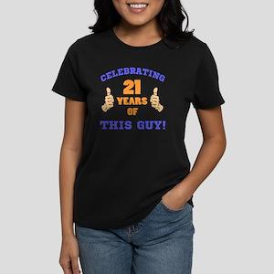 Celebrating 21st Birthday For Women's Dark T-Shirt
