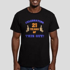 Celebrating 21st Birth Men's Fitted T-Shirt (dark)