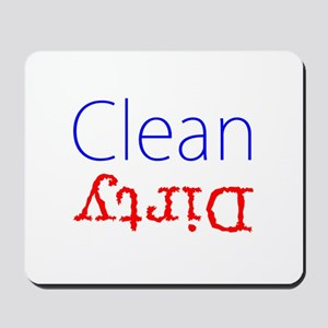 Clean Dirty Dishwasher Red Blue Becky's Mousepad