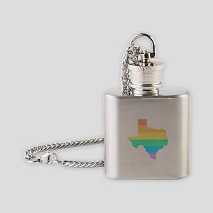 Texas Rainbow Flask Necklace
