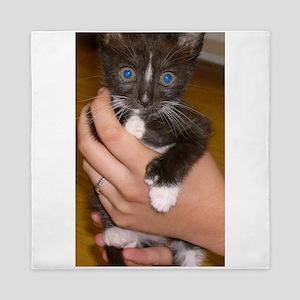 american polydactyl kitten Queen Duvet