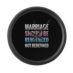 Marriage Should Be Reinforced Large Wall Clock