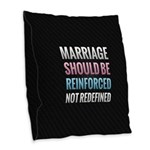 Marriage Should Be Reinforced Burlap Throw Pillow