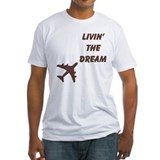 Aviation humor Fitted Light T-Shirts