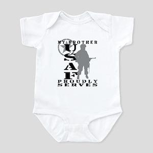 Bro Proudly Serves - USAF Infant Bodysuit