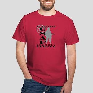 Bro Proudly Serves - USAF Dark T-Shirt