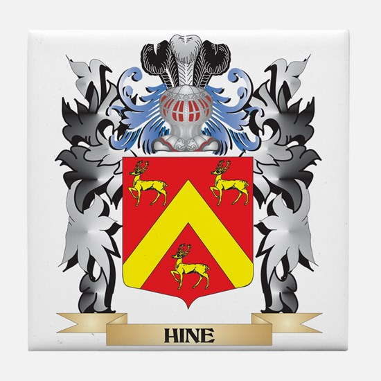 Hine Coat of Arms - Family Crest Tile Coaster