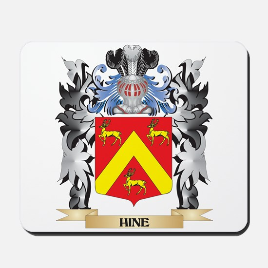 Hine Coat of Arms - Family Crest Mousepad
