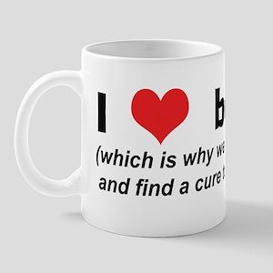 I Love (Heart) Boobies! Mug