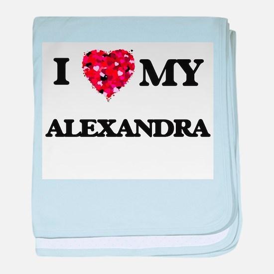 I love my Alexandra baby blanket
