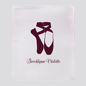 Team Pointe Ballet Amethyst Personal Throw Blanket