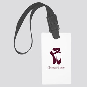 Team Pointe Ballet Amethyst Pers Large Luggage Tag